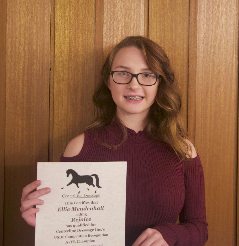 Ellie Mendenhall, Training Level Champion Jr/YR