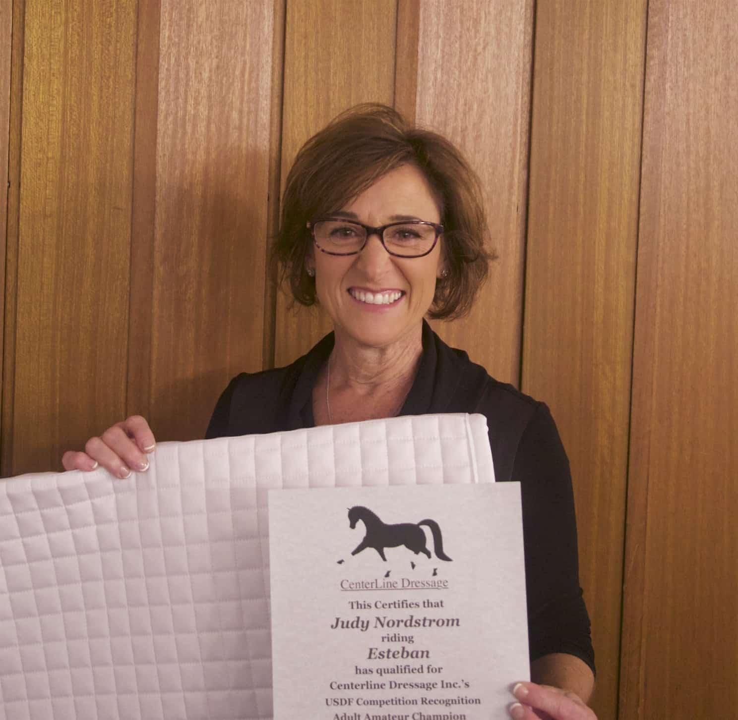 Judy Nordstrom accepts an award