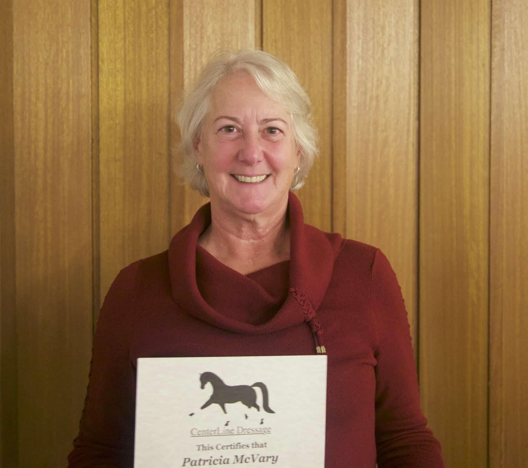 Pat McVary accepts an award