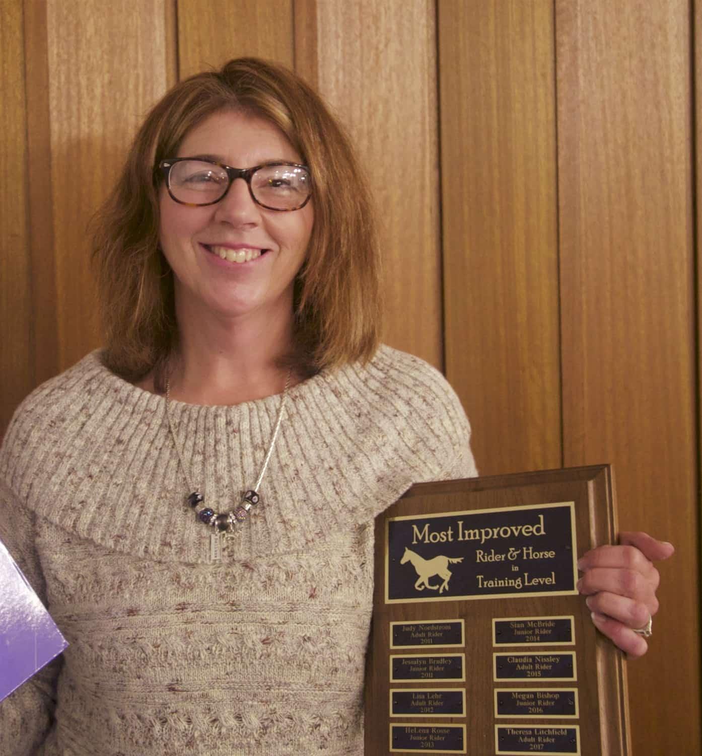 Teresa Litchfield, 2017 Most Improved Adult at Training Level