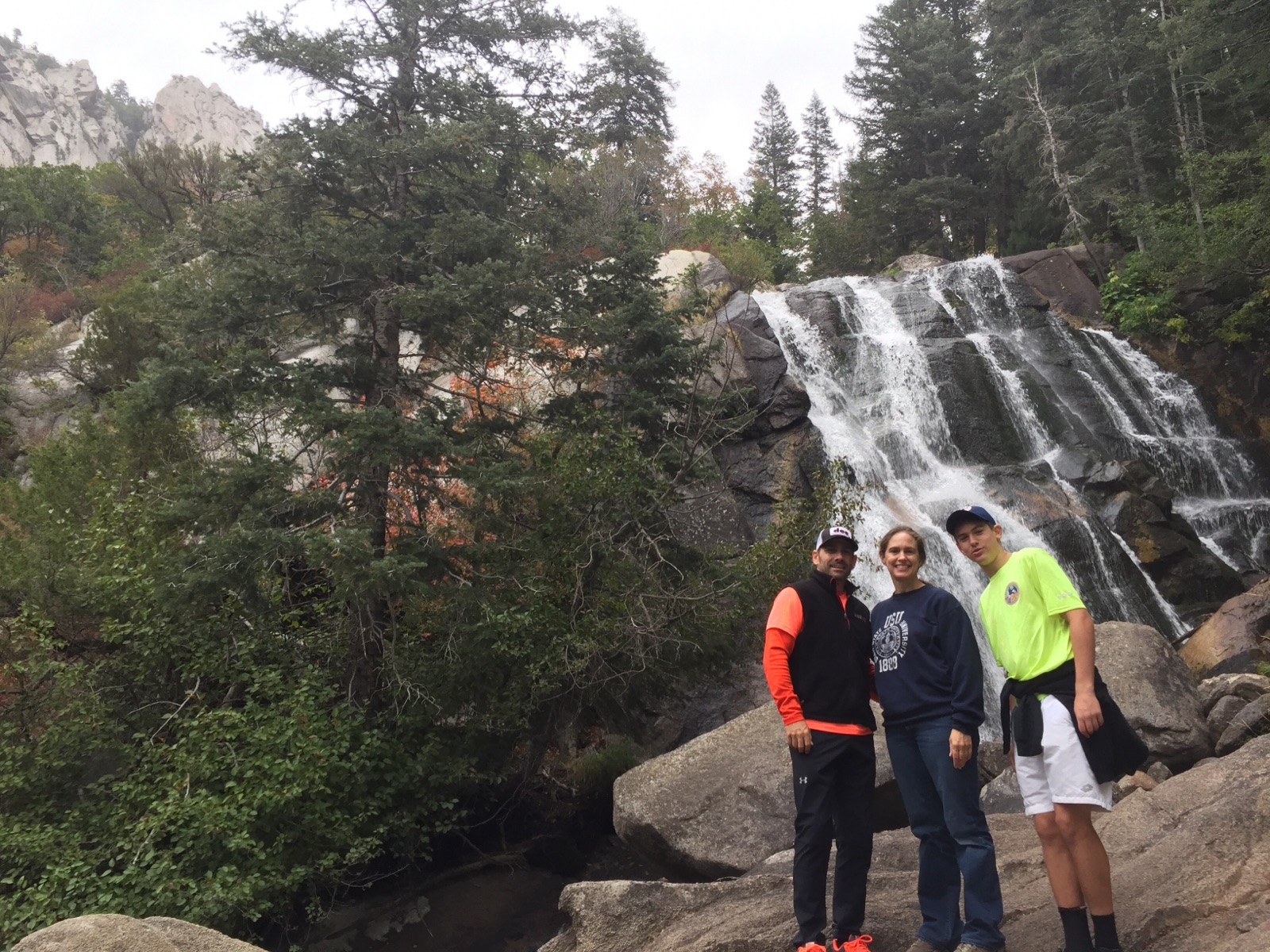 Murdocks using their fitness up Bell's Canyon, lower falls! Spectacular!