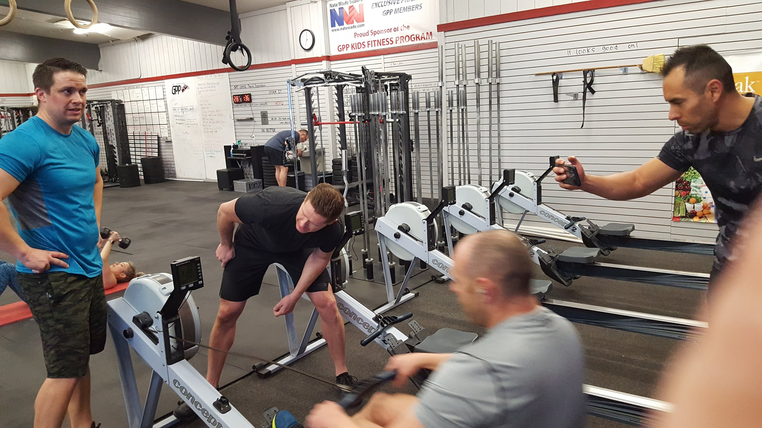 The boys getting their row on! All made significant improvements. You should ask them about it.