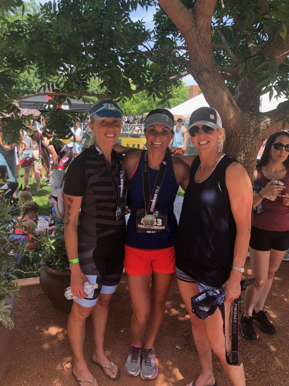 Super proud of Kristin, Emily & Brooke who finished the IronMan (IronWoman!) relay!