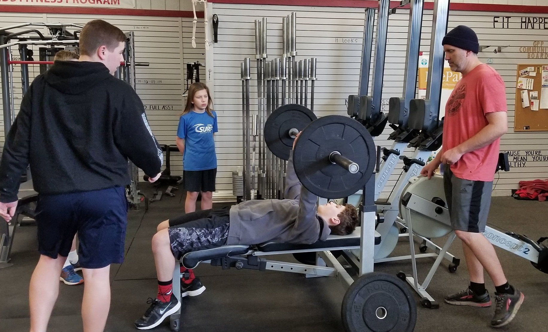 Saturday is international bench press day! Bring your boys/girls and get your pump on!