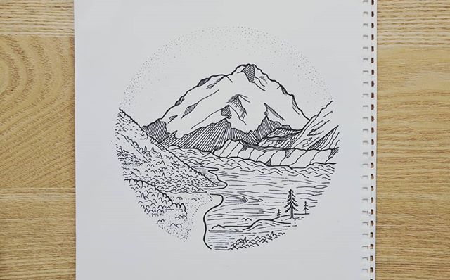 #tasmanglacier #newzealand #drawing #illustration