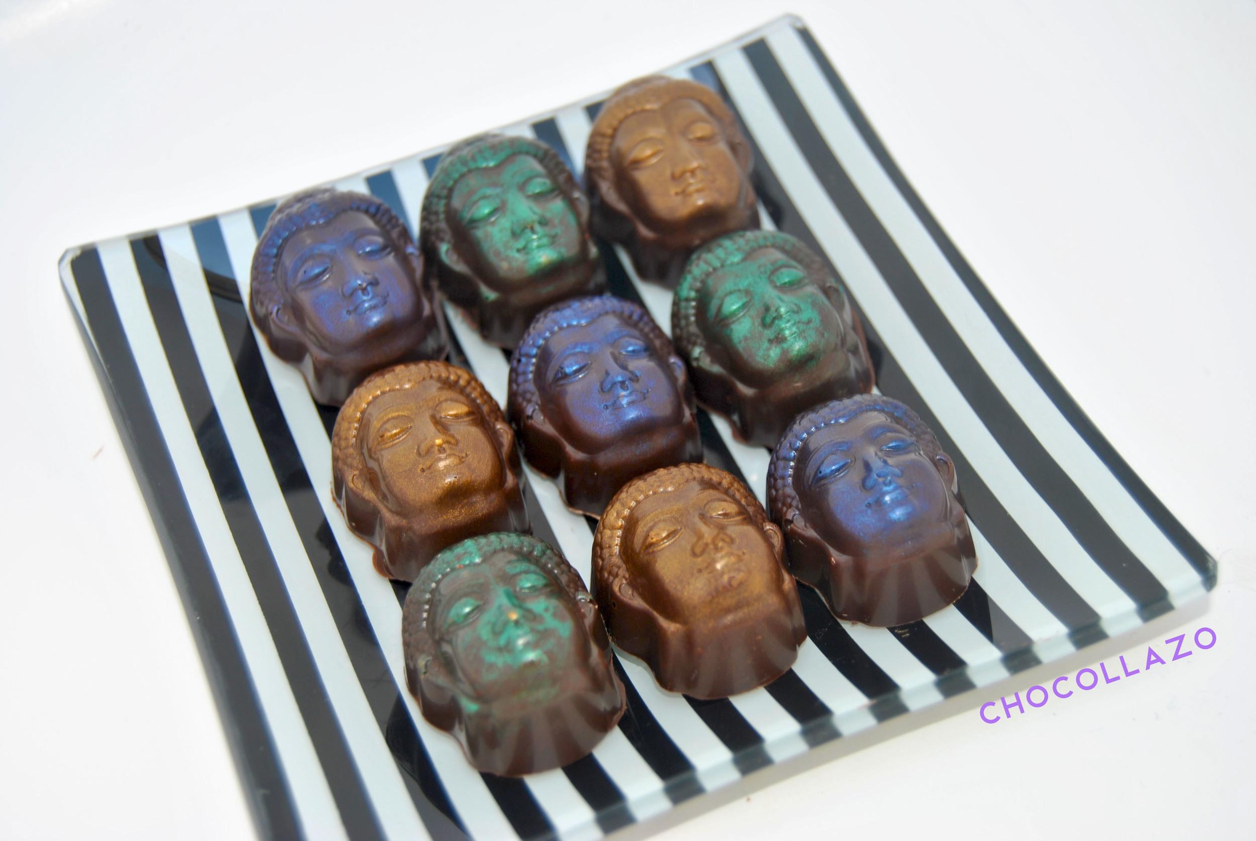 Warhol-inspired Caramel Buddha Truffles