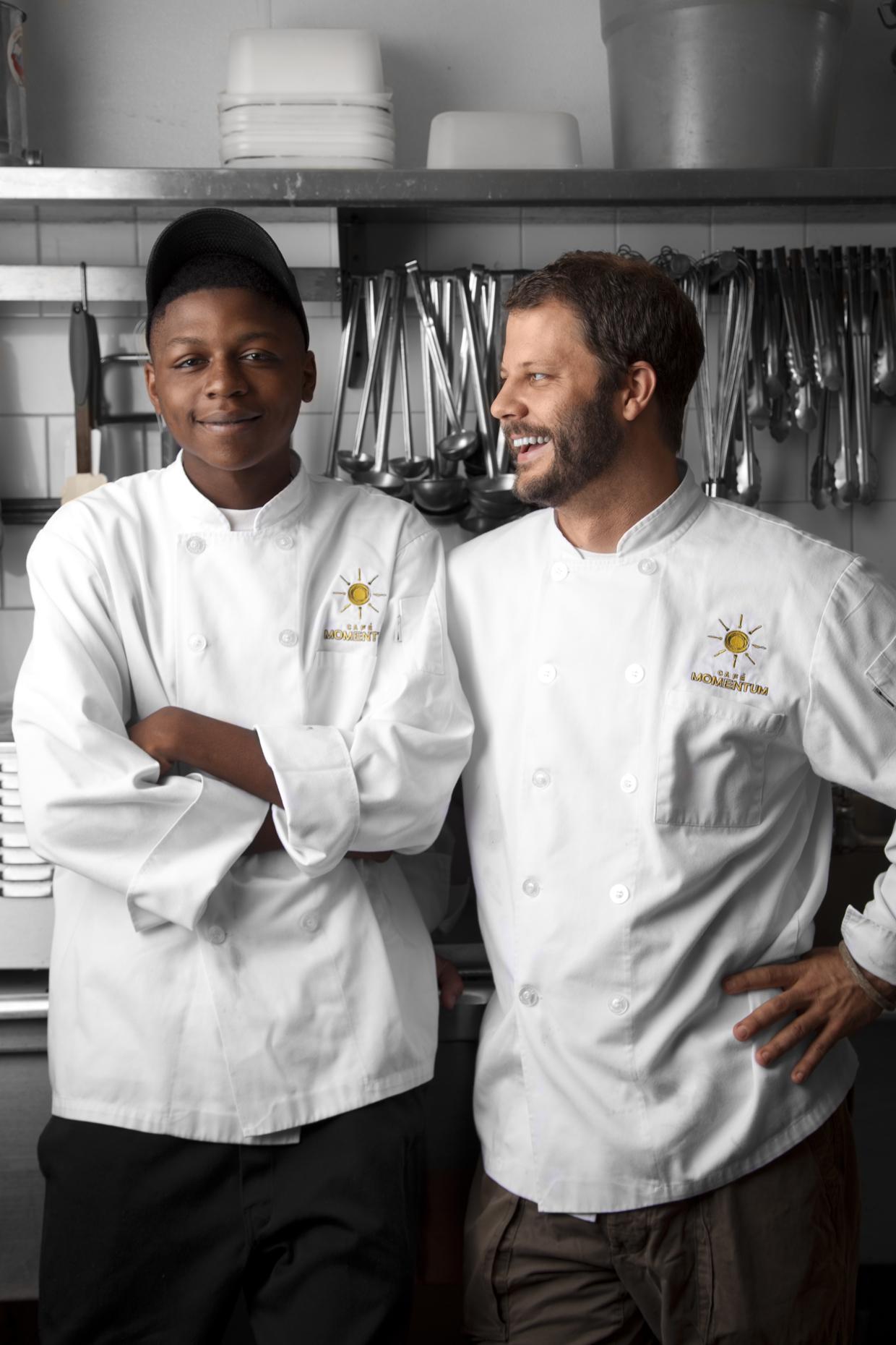 Chef Chad Houser and Malik Runnels,Credit Stanton Stephens