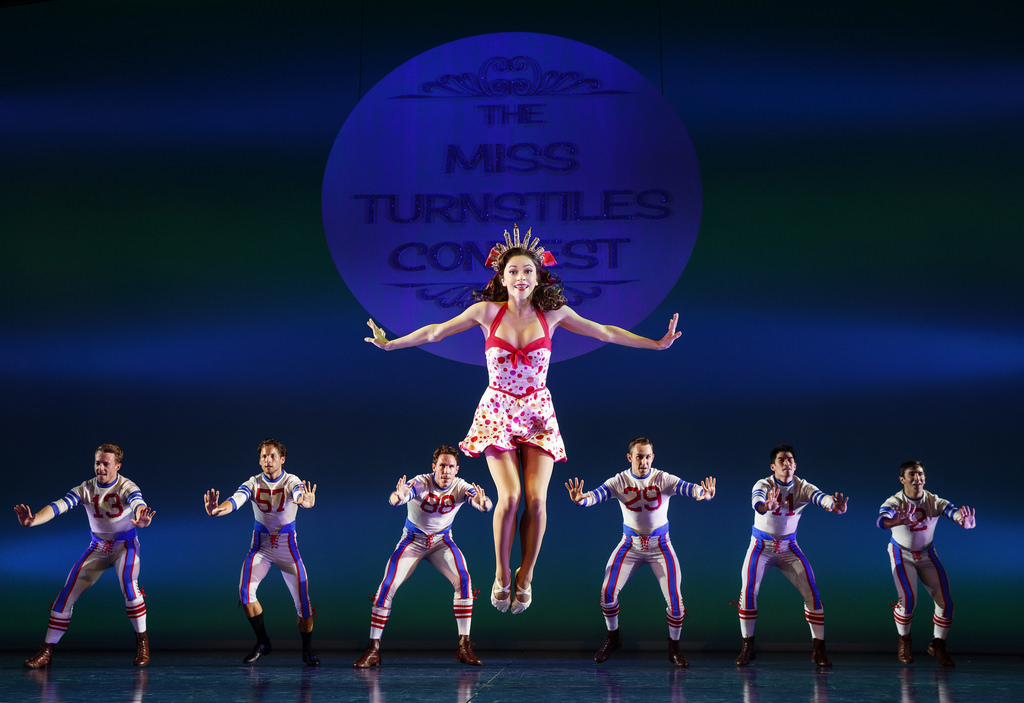 Megan Fairchild and the cast of  On The Town , photo by Joan Marcus
