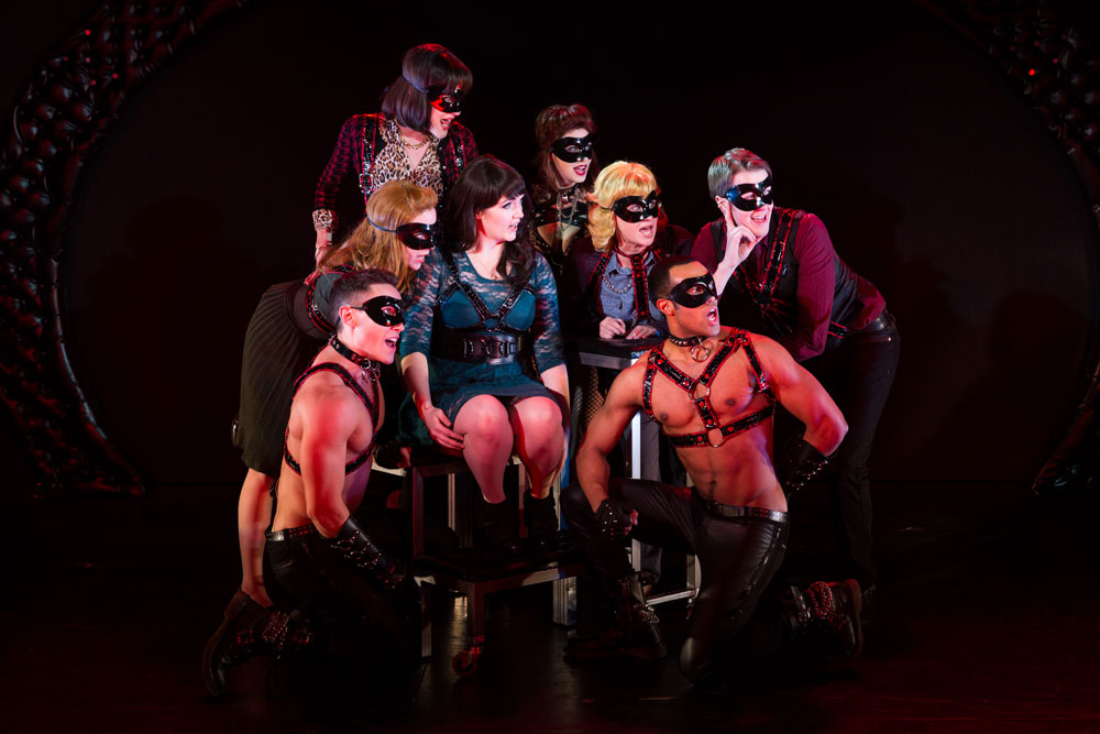 NY Cast: The cast of  50 Shades! The Musical . Photo by Matthew Murphy