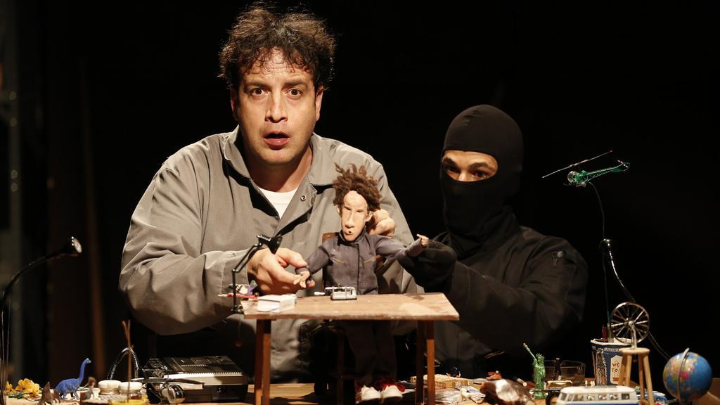 Antonio Vega and Omen Sade in  The Duchamp Syndrome.  Photo byCarol Rosegg