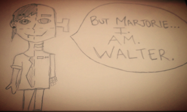 After each show, I love to draw a scene that had an impact on me. I decided to draw a cross-section of Walter Prime because to me, while he had the physical features and memories of the real Walter, he was still a prime built to compute memories.