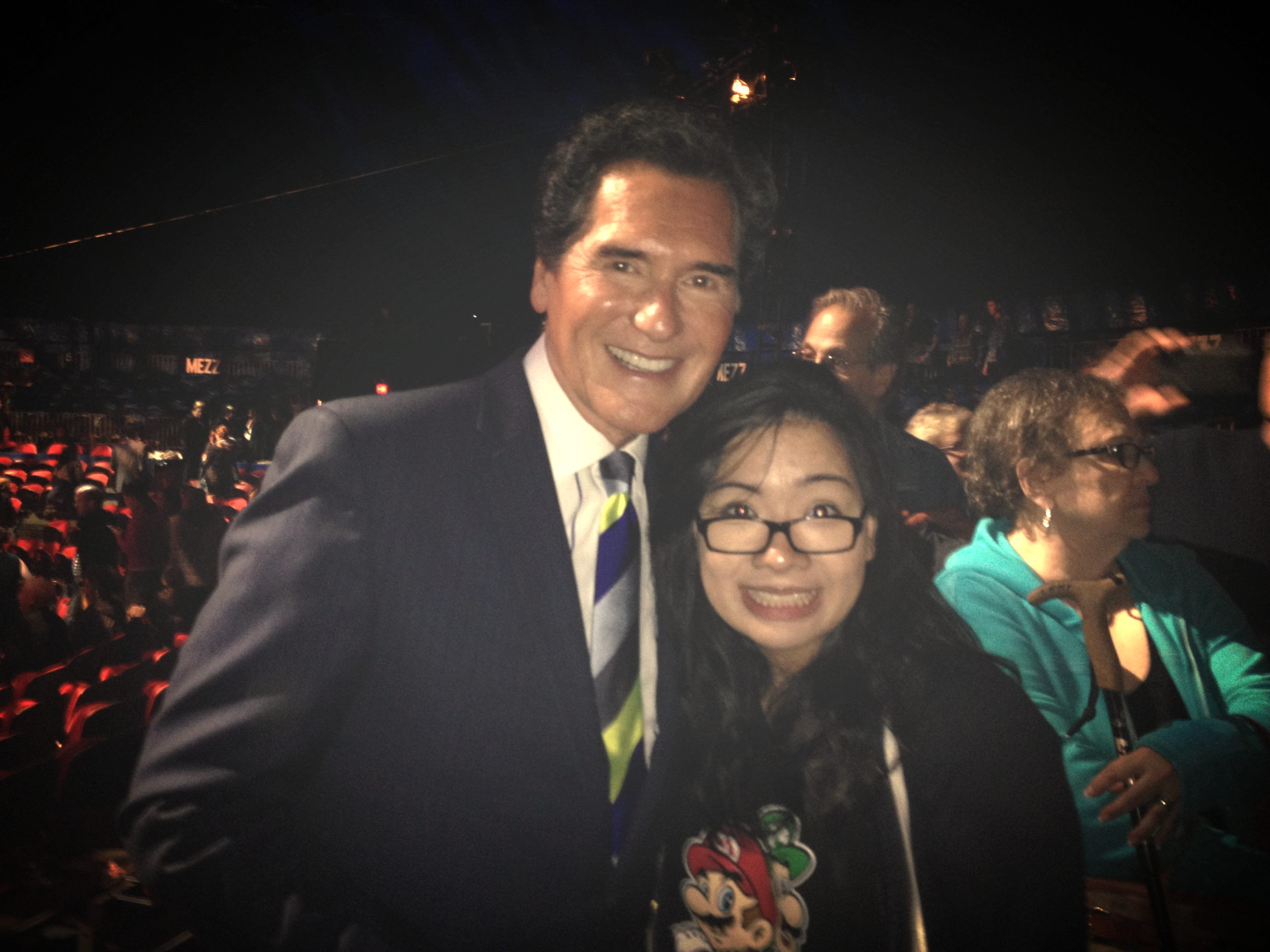And the cheesin' only continued when I met Ernie Anastos.