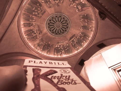 But look...a slightly artsy version of the traditional Playbill photo! -
