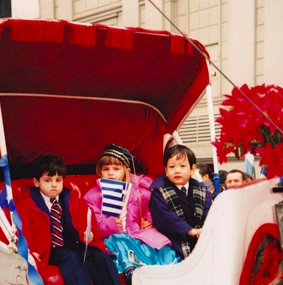 A pint-size me celebrating Greek Independence Day two decades ago!