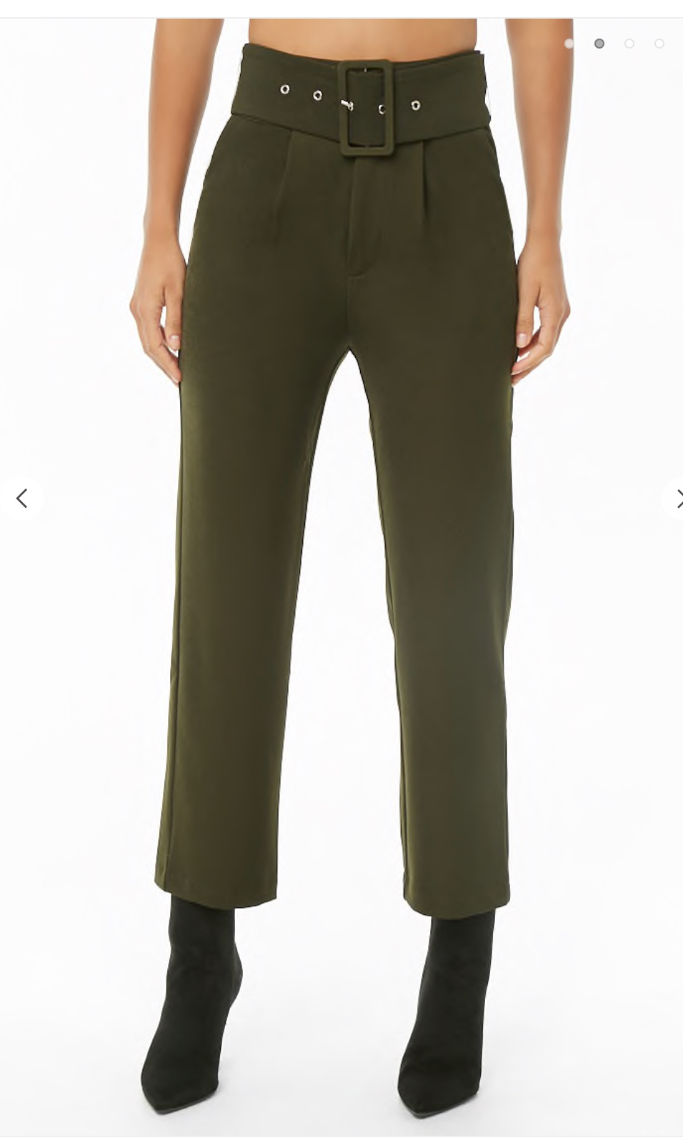 Dress pants with a funky touch like a chunky belt or stripes up the sides can bring a touch of personality to a normally plain professional garment.