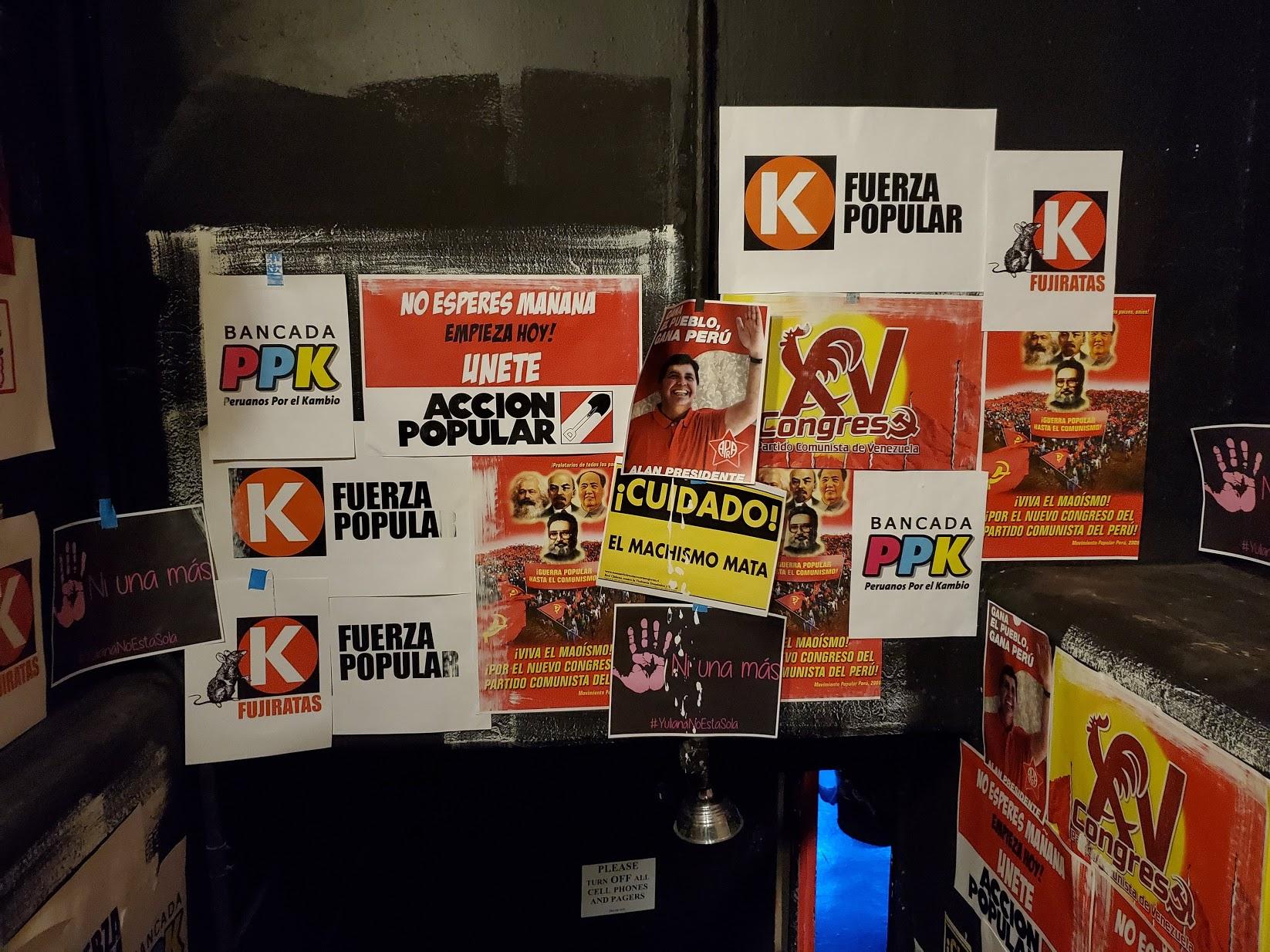 Various Peruvian political parties