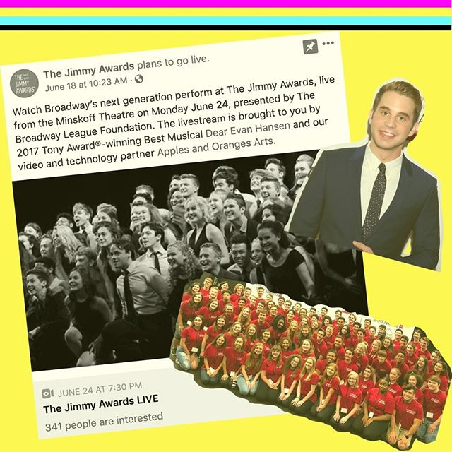 @jimmyawards TIME 🏆aka The National High School Musical Theatre Awards! Our fav @bensplatt will be hosting tonight at the #MinskoffTheatre. Tune into the live stream for FREE on The Jimmy Awards' @Facebook page! 🎭 . . #TheJimmyAwards #2019JimmyAwards #TheNationalHighSchoolMusicalTheatreAwards #YoungArtists #NYC #NYCTheatre #FutureTonyWinners