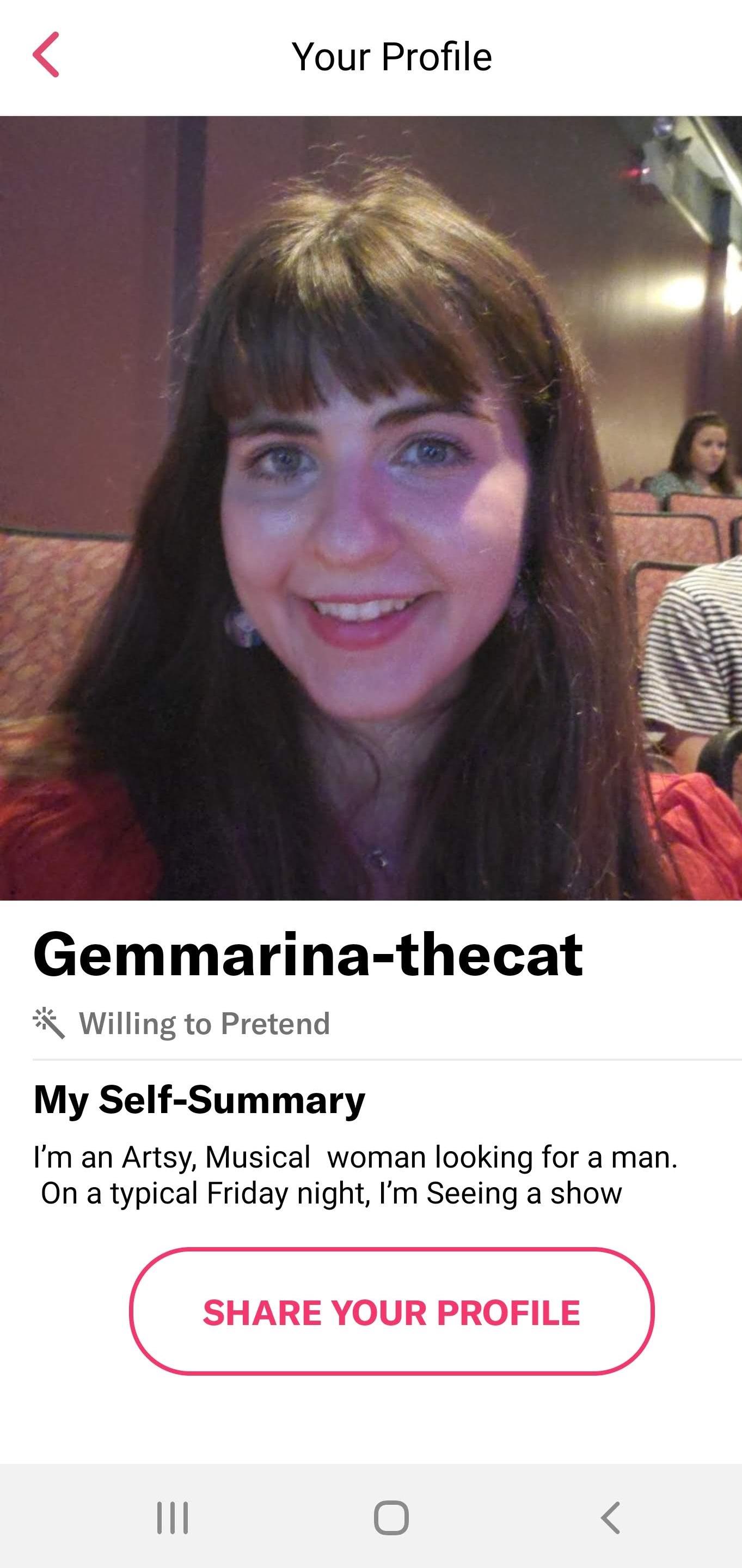 My profile on the #DateMe show app