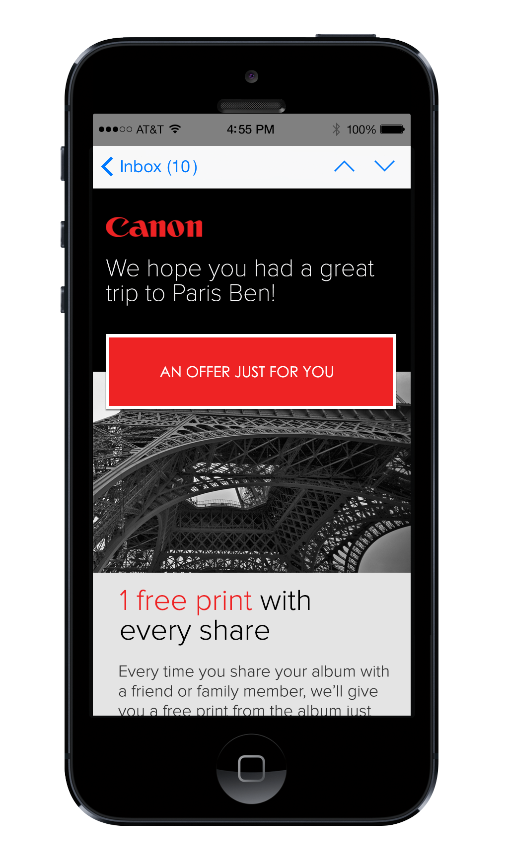 Personalized Offers: Extending the Canon relationship beyond the camera