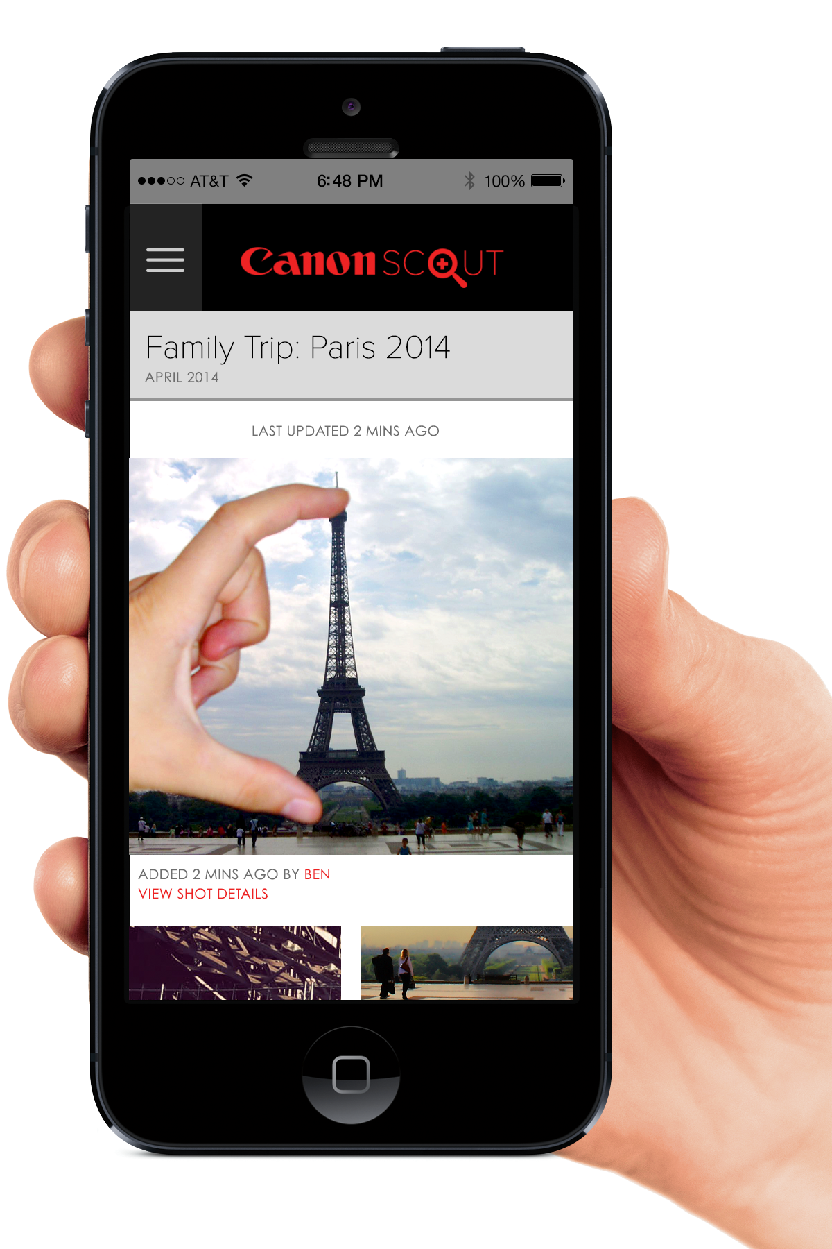Personalized Photo Trip Feed