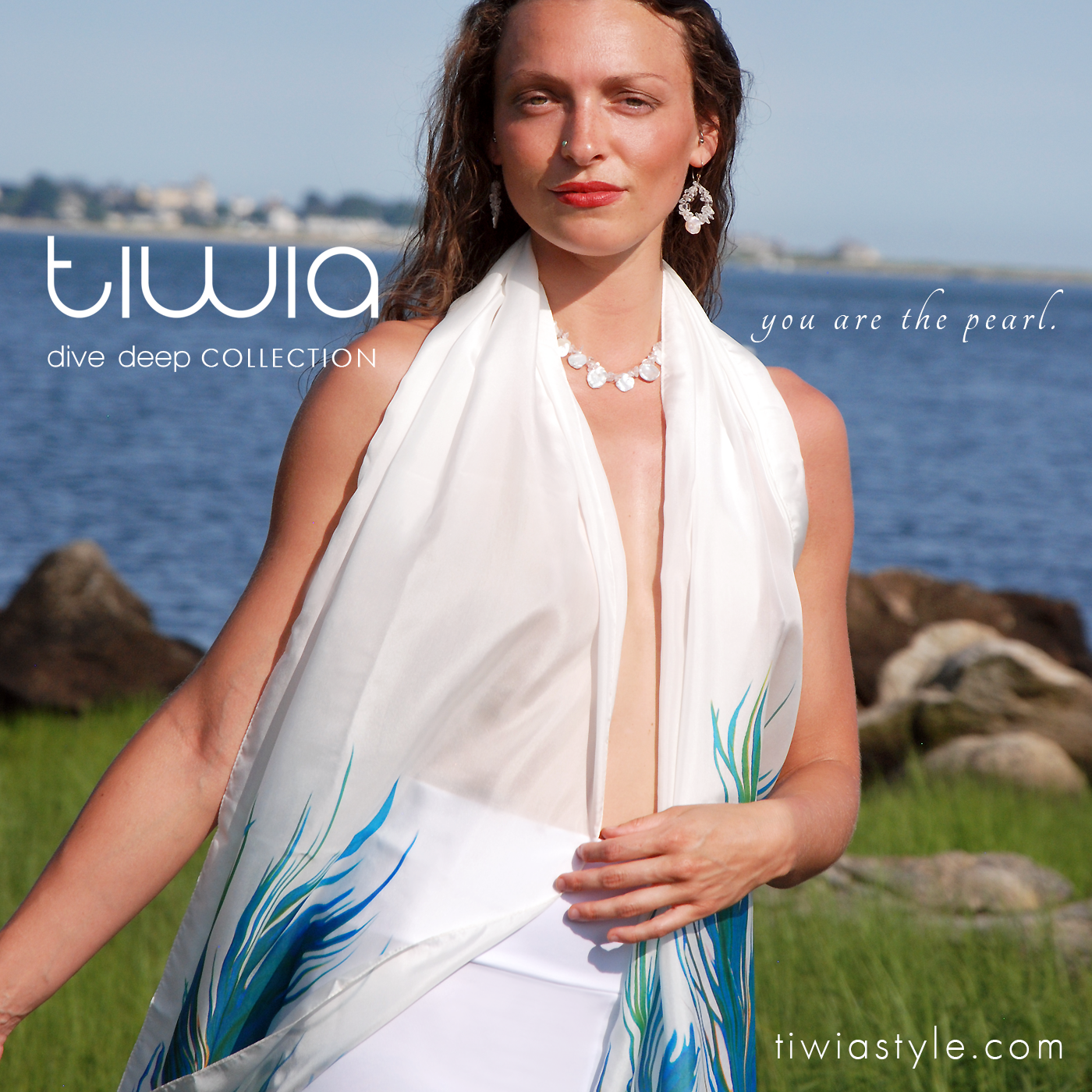 tiwia dive deep ad instagram emily close fishtail scarf tou are the pearl.png