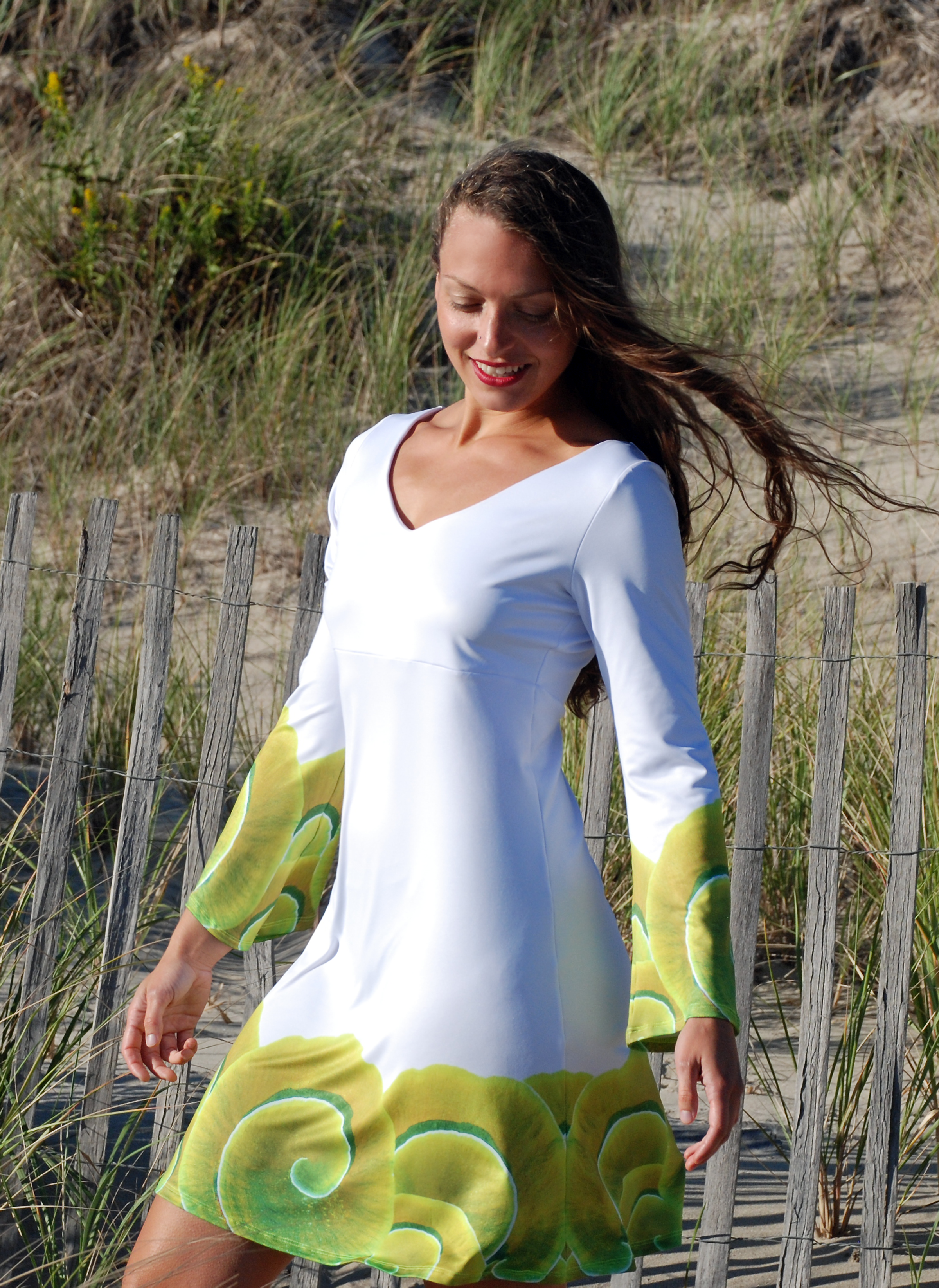 tiwia dive deep bell sleeve dress spiral coral shop gallery shots.png