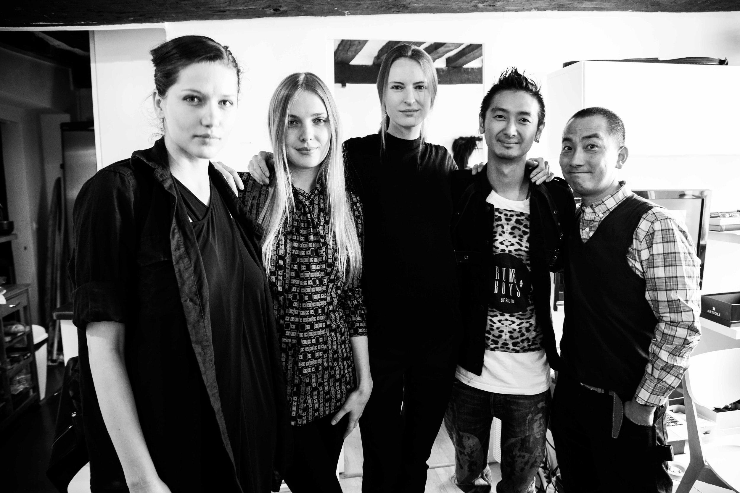 Left to Right: Mada @ Major Paris, Carmen, Laura @ Just WM, Moi and Kenji.