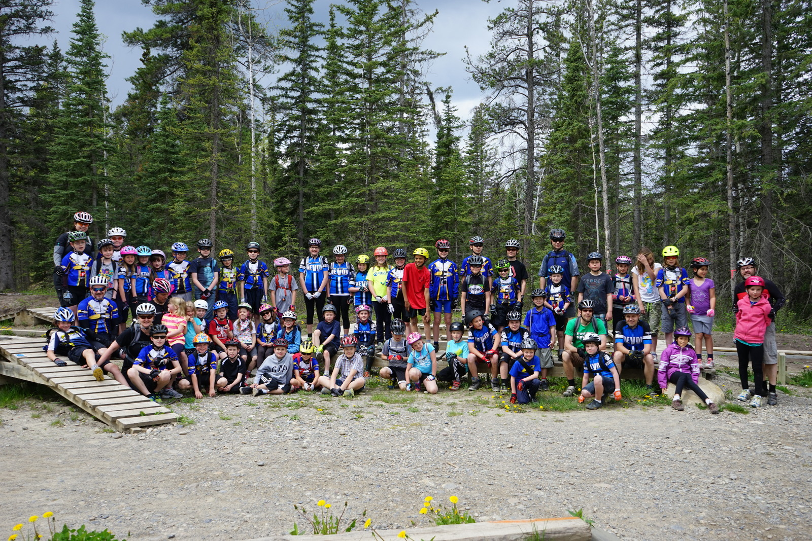 Some of the kids arriving in Hinton on June 1st, 2014