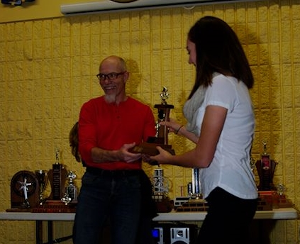 Sidney McGill - Top U17 Female (accepted by sister Abbey)