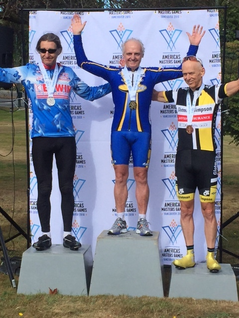 Clive Burke wins gold in the individual Time Trial