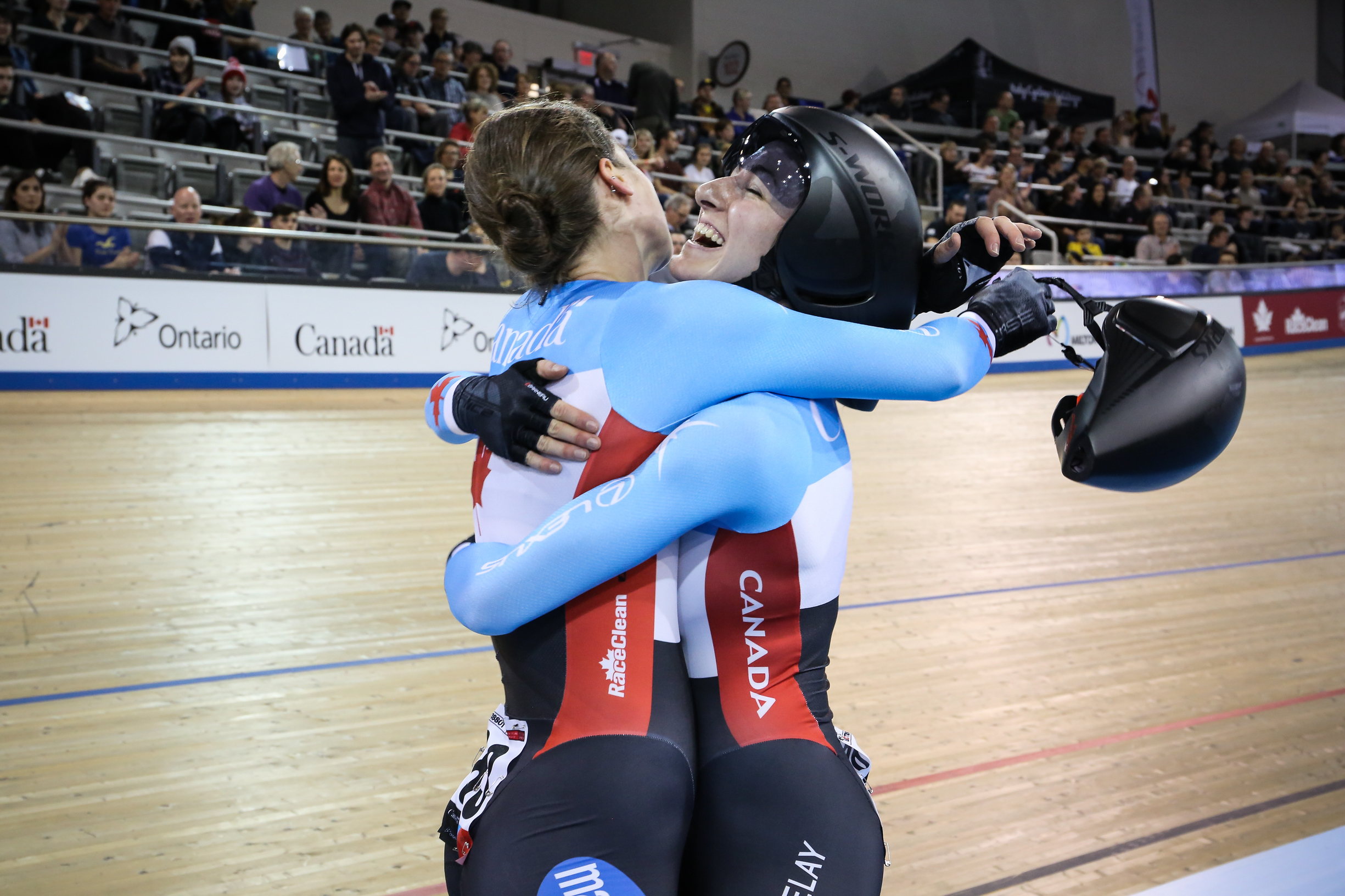 And this is what it feels like to win on home turf! - photo by Peter Kraiker (Ariane Bonhomme & Kinley Gibson)
