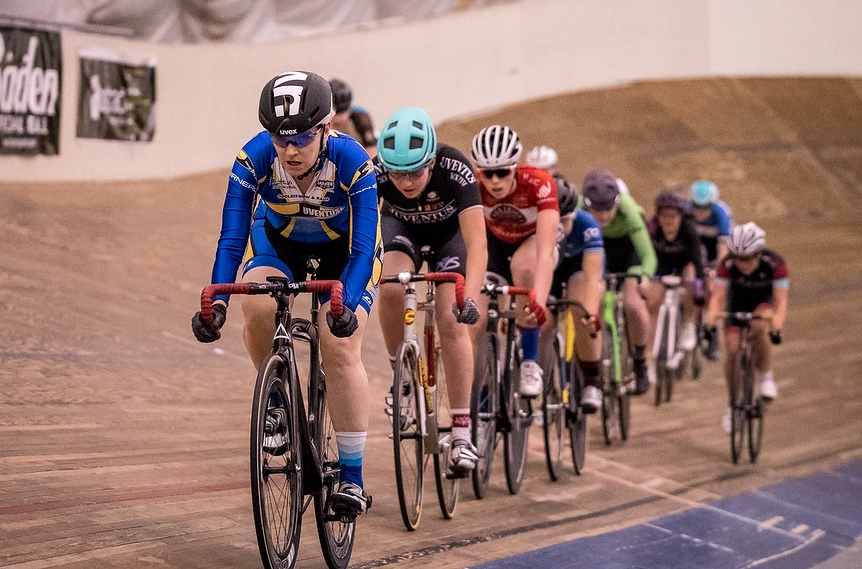 Gail and Abbey in action with the Elite Women.