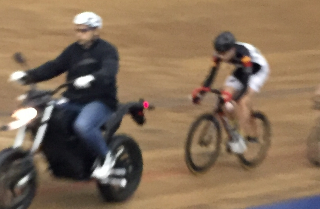 Some great Keirin action was too fast to catch on film!