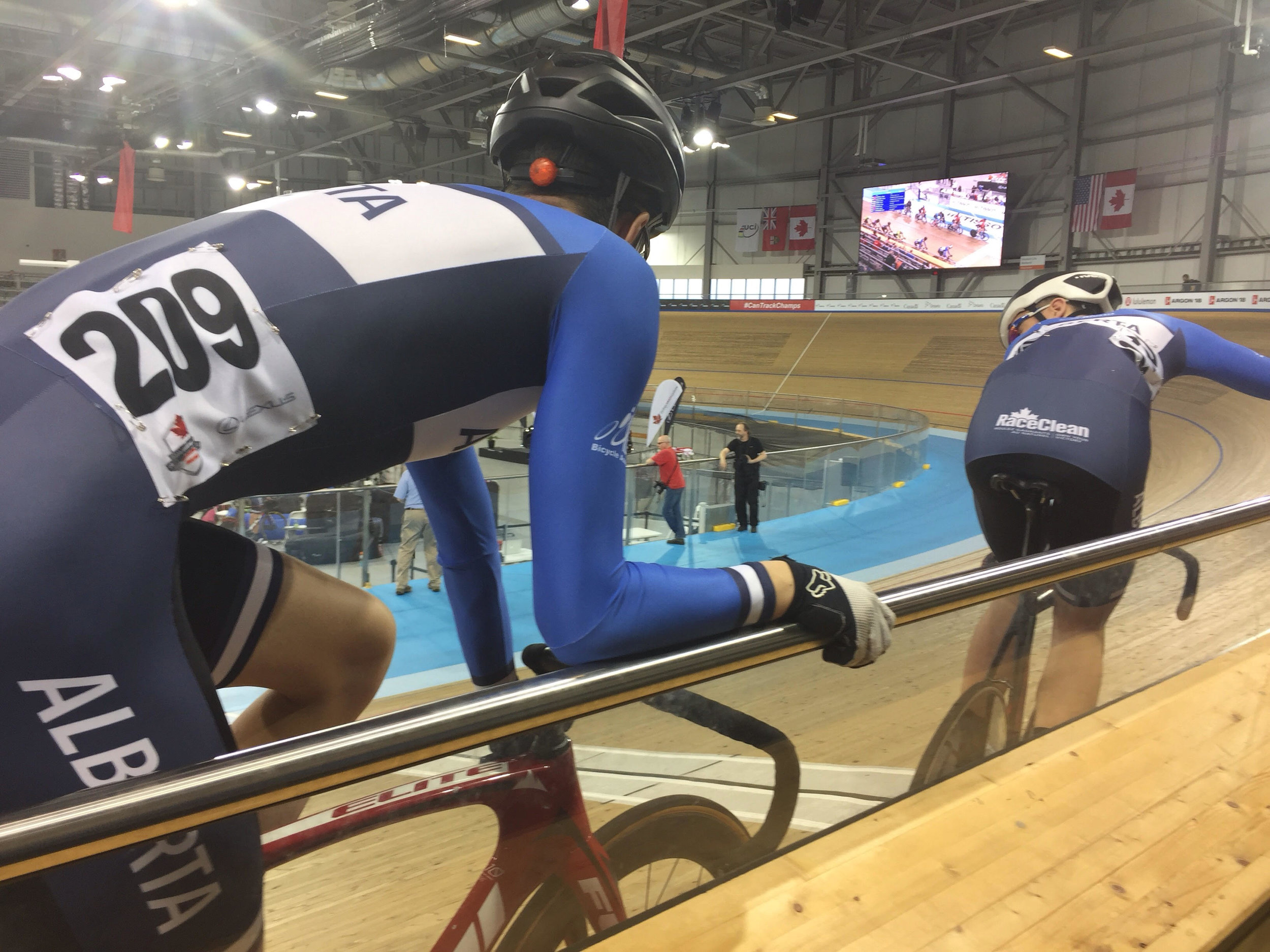Chris and Mat anticipating the Junior National Madison Championship!