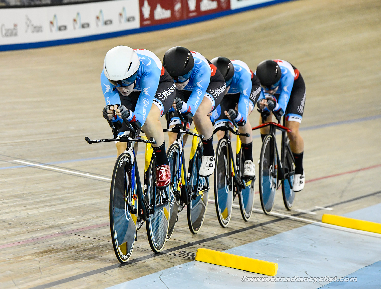 Team Canada Pursuit: Steph Roorda, Ariane Bonhomme, Kinley Gibson, Annie Foreman Mackie