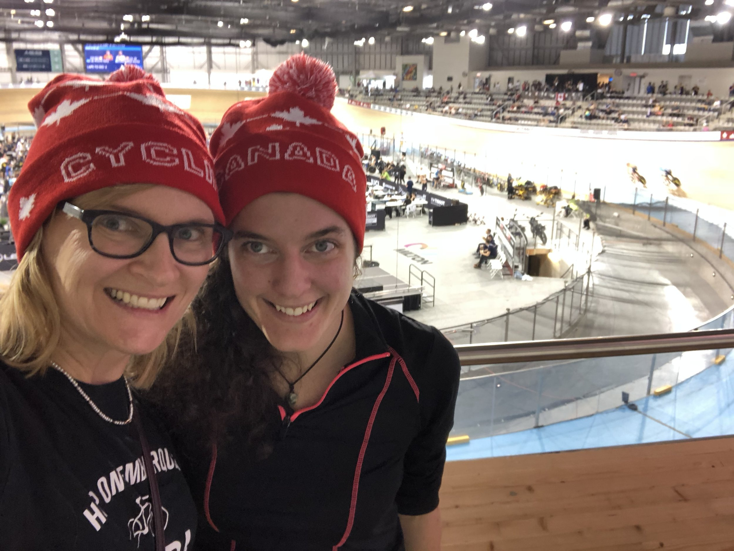 Gail and Meika were in full gear and ready to cheer on all the competitors in Milton!