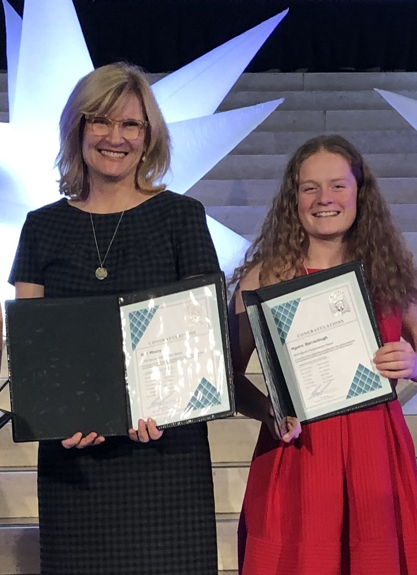 Gail Wozny and Ngaire Barraclough with their City of Edmonton Performance Awards!