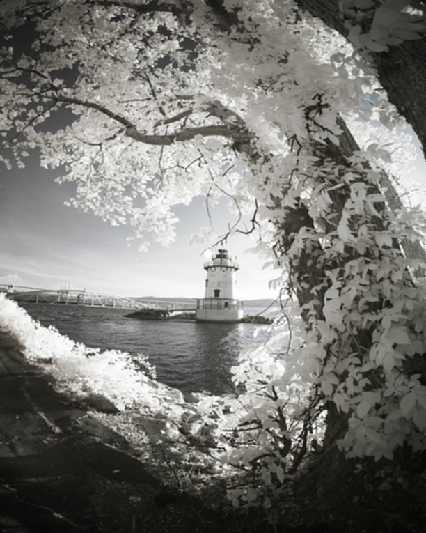 Playing with some landscape photography #infrared #nycphotographer #landscape #photography #lighthouse #hudsonriver