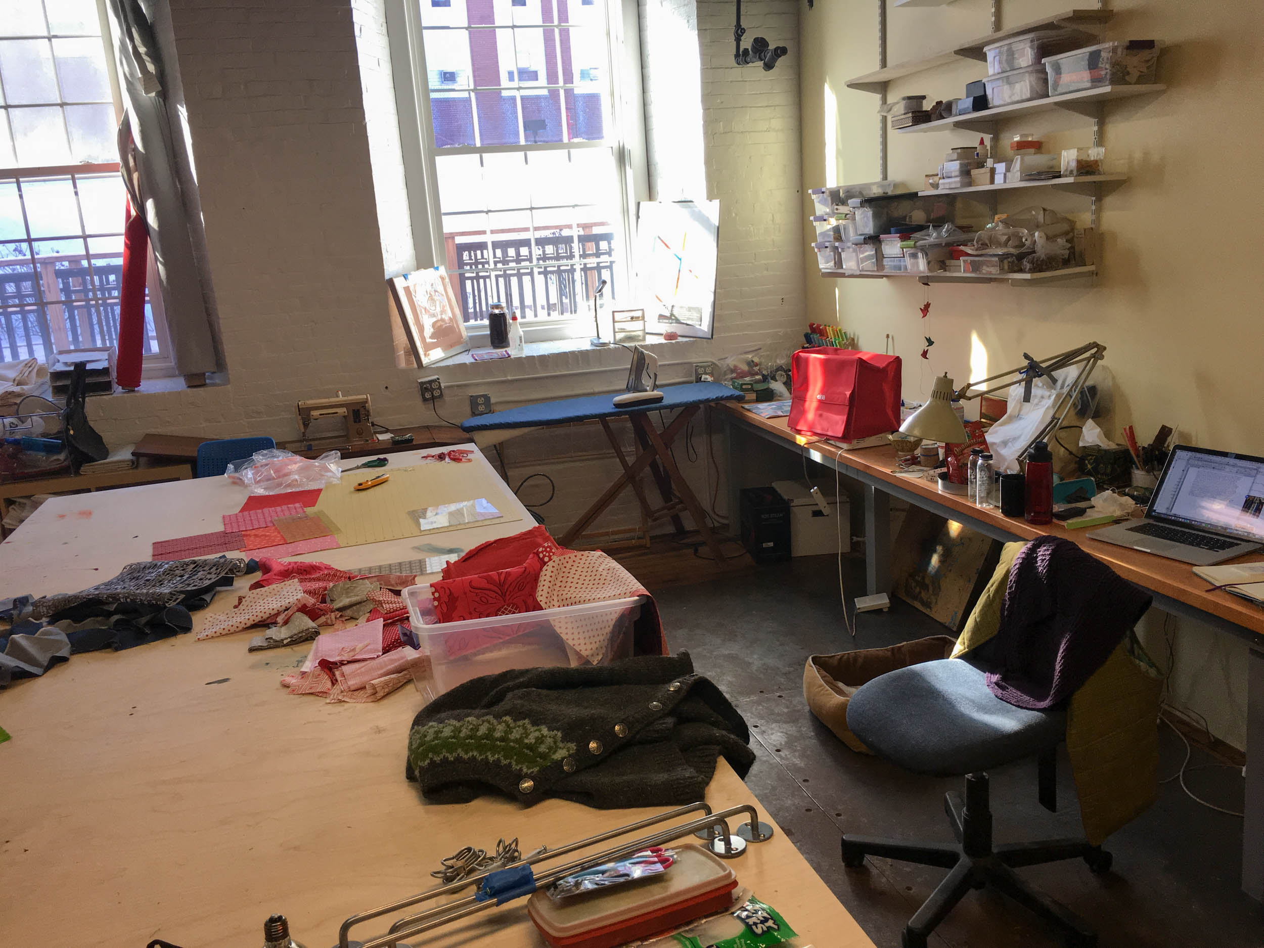 At the moment my studio is a chaotic mess, but it is my safe haven, and a place to work through my anxiety.....