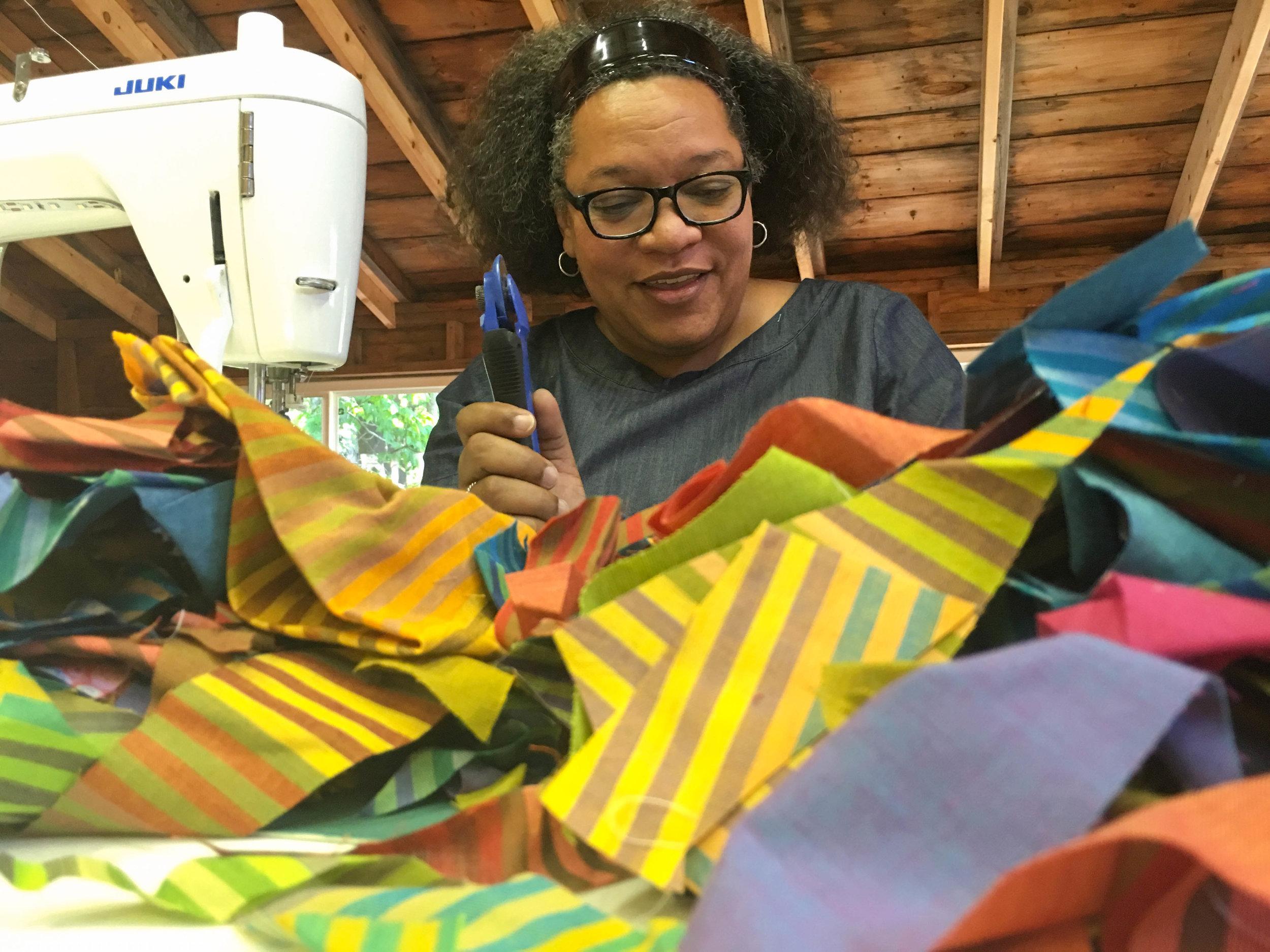 Chawne Kimber, Slow Stitching