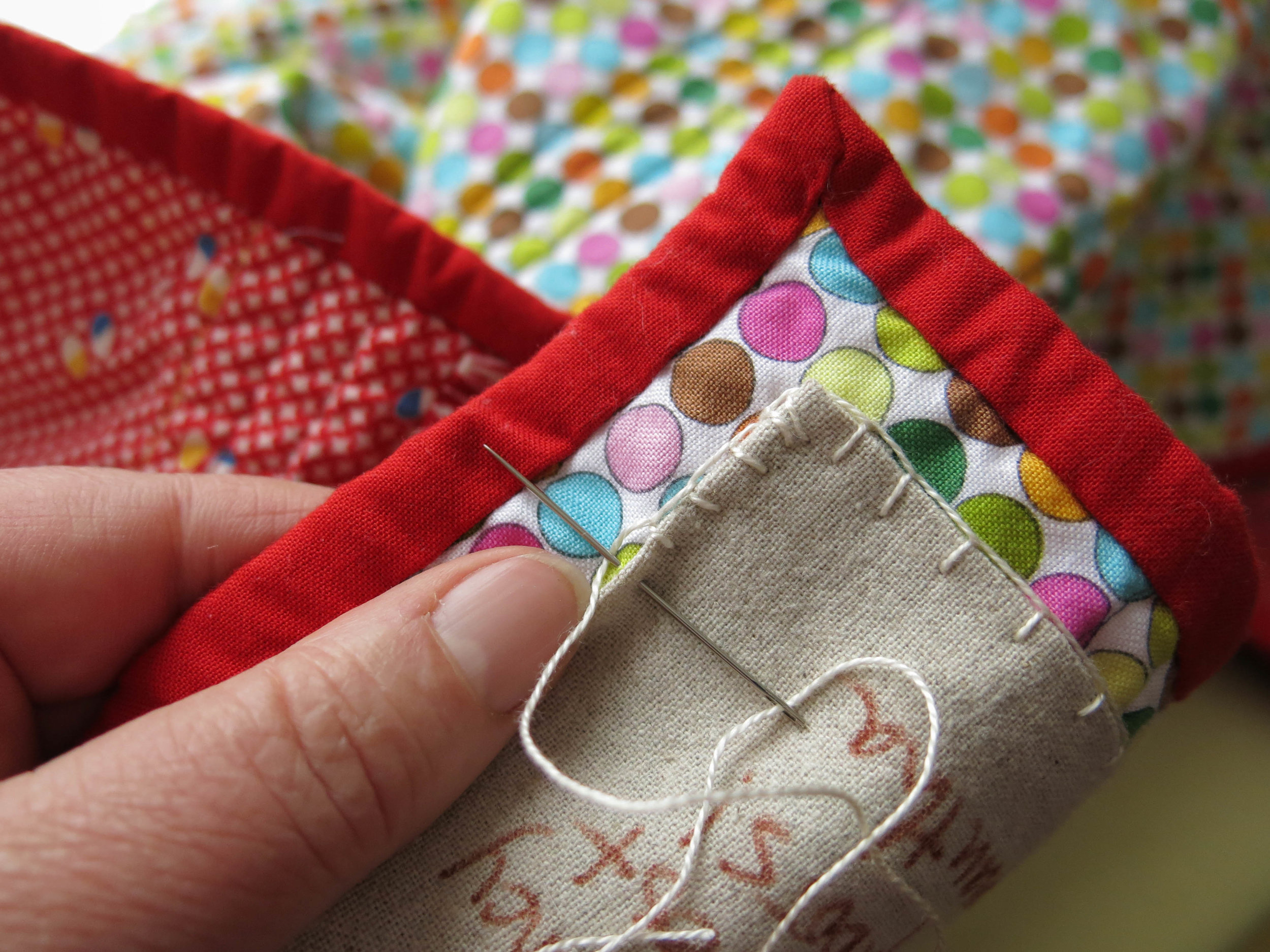 I like putting labels on my quilts. I dream of the journeys they will take, and the story a future user will tell about their history....