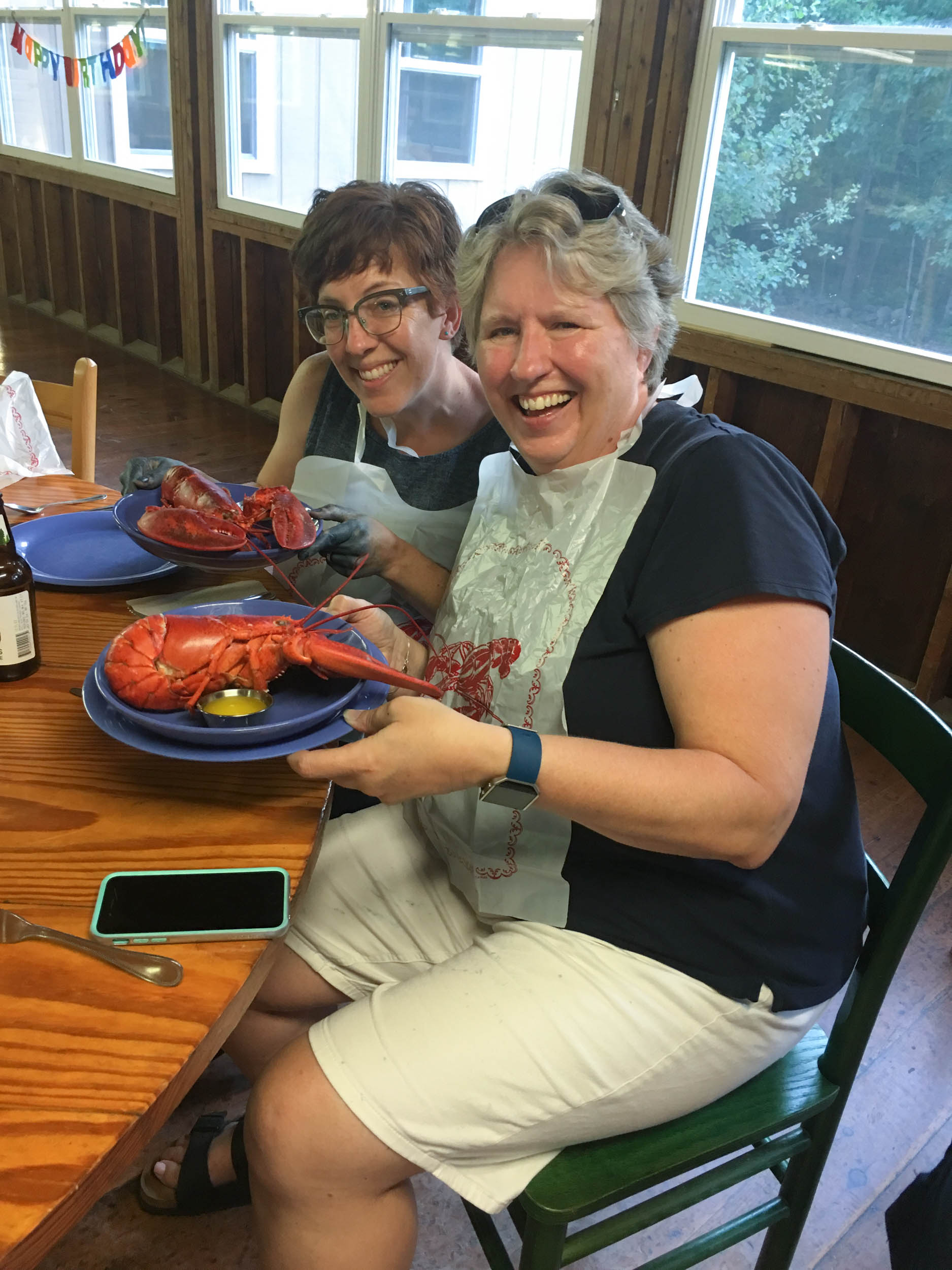 Kim & Mary Anne w-lobsters (1 of 1).jpg