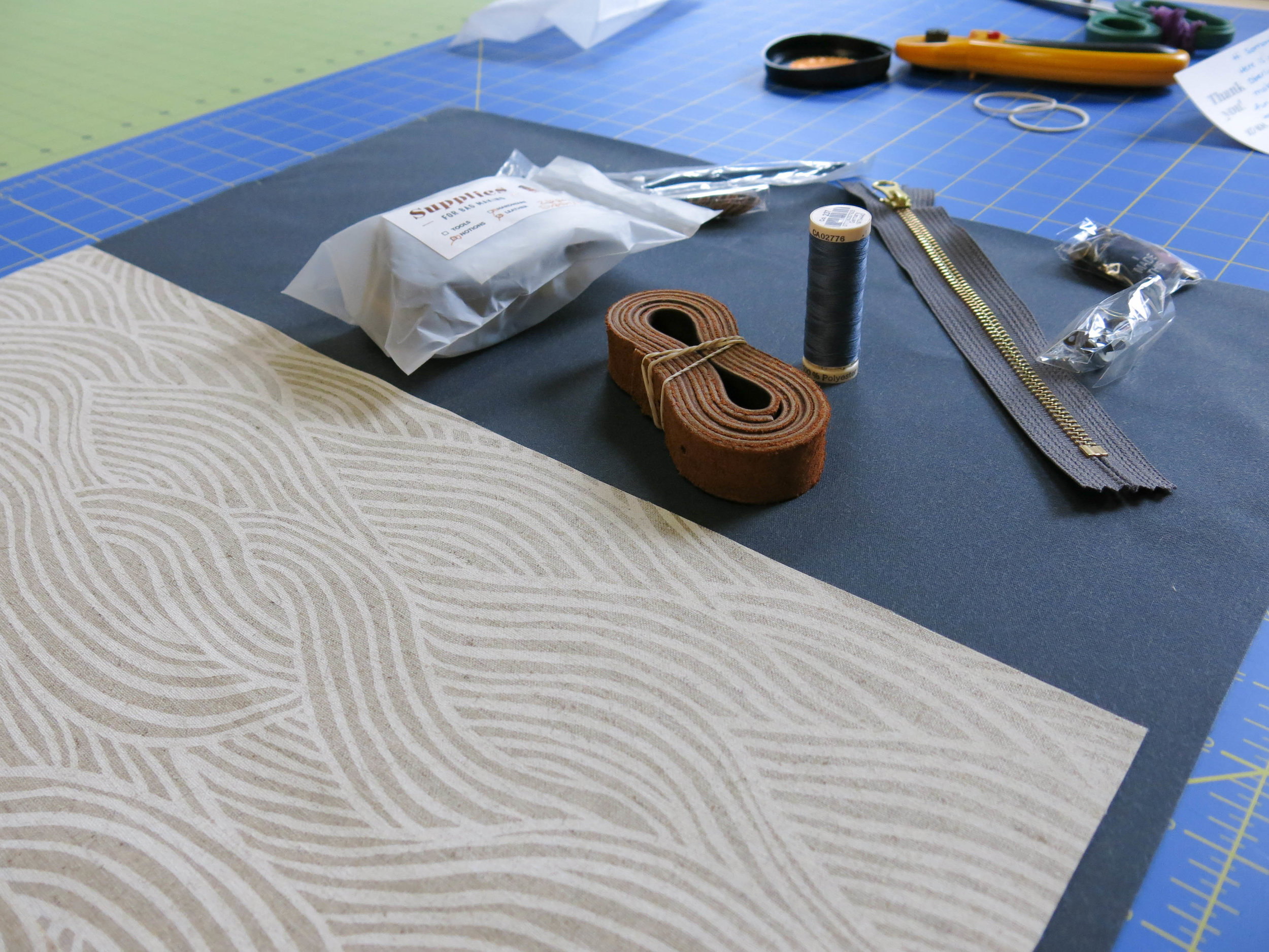 the kit laid out on my cutting table, already cut!