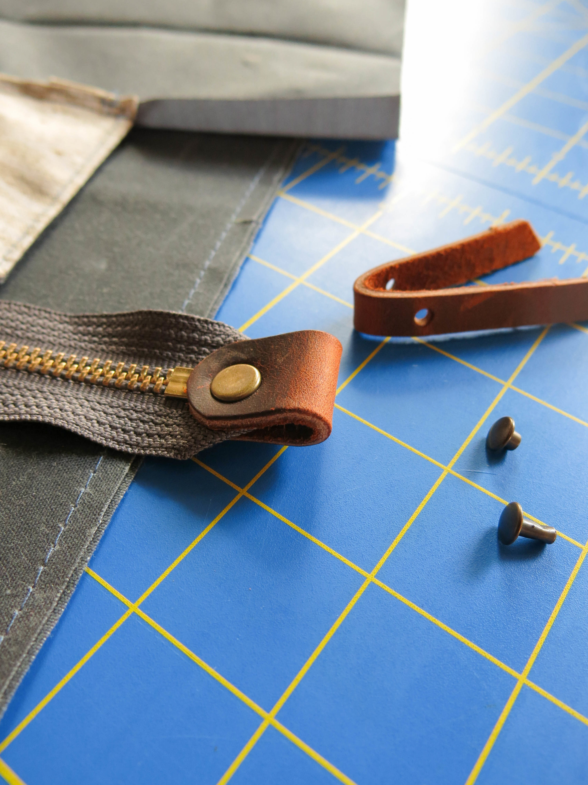 The fine details of leather pulls elevate a hand made bag