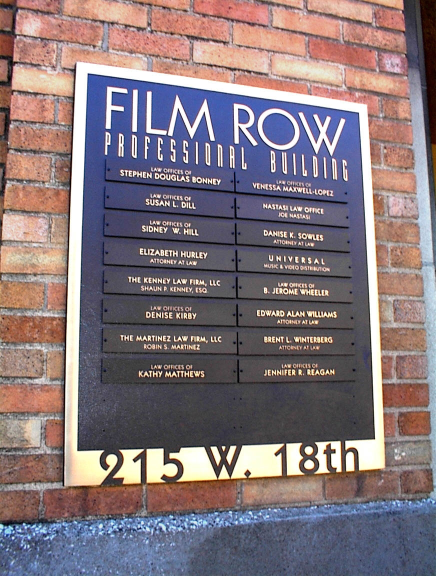 br plaque; Film Row.JPG