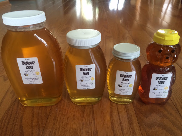 This amazingly pure and natural honey is produced by the Jewett Family and the Hoffman Family in Fond du Lac, WI. Made by bees flying freely through  wildflower  meadows, and always left in it's  raw  state, unpasteurized.