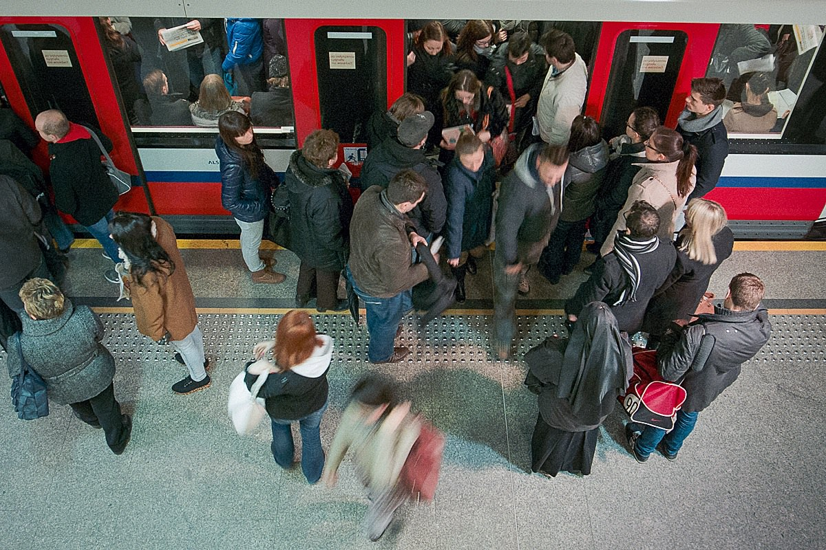 """Stacja """"Metro Centrum"""", Warszawa."""