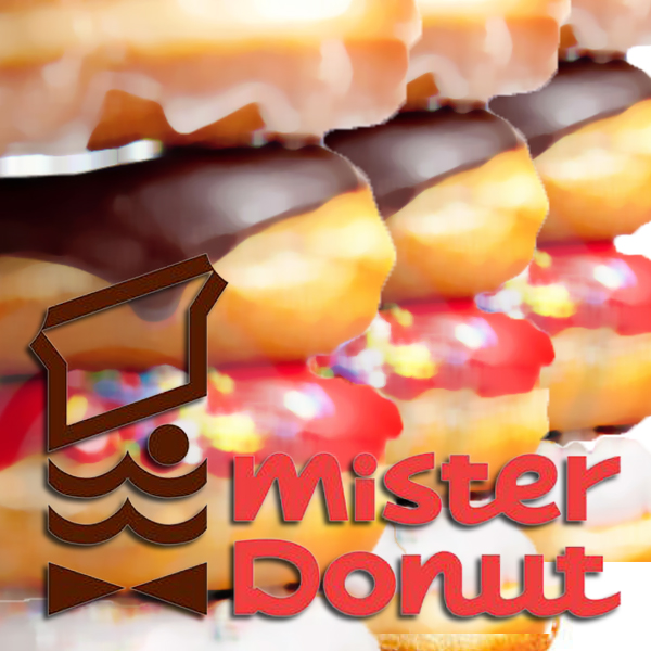 There used to be a Mister Donut in my hometown, but today I learned they have since moved to Japan, and are calledMisutā Dōnatsu.