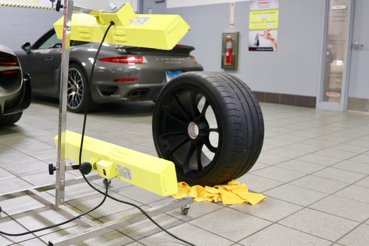Infrared Curing for a better bond to the wheel surfaces