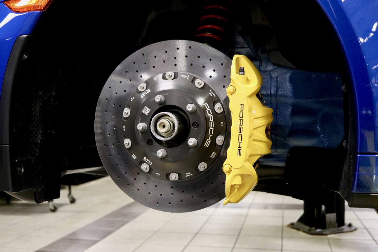 Brake Calipers Coated for ease of cleaning